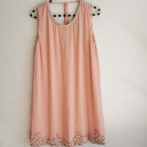 Forever 21 pink pearl dress large